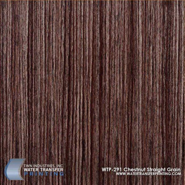 WTP-291 Chestnut Straight Grain Hydrographic Film