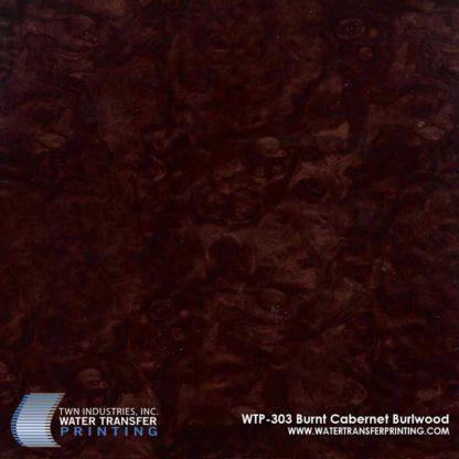 WTP-303 Burnt Cabernet Burlwood Hydrographic Film