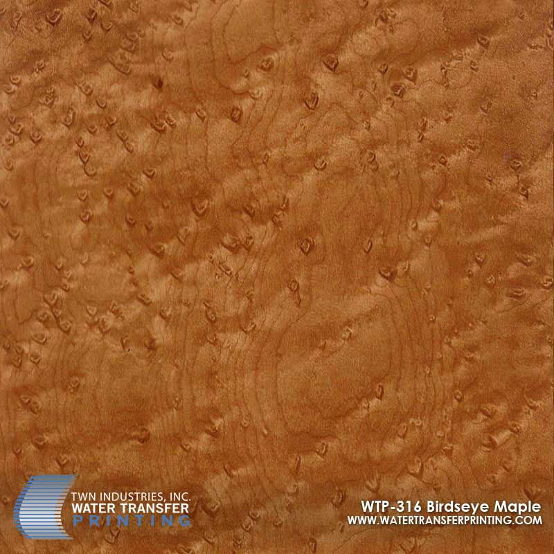 Birdseye maple hydrographic film wtp twn industries