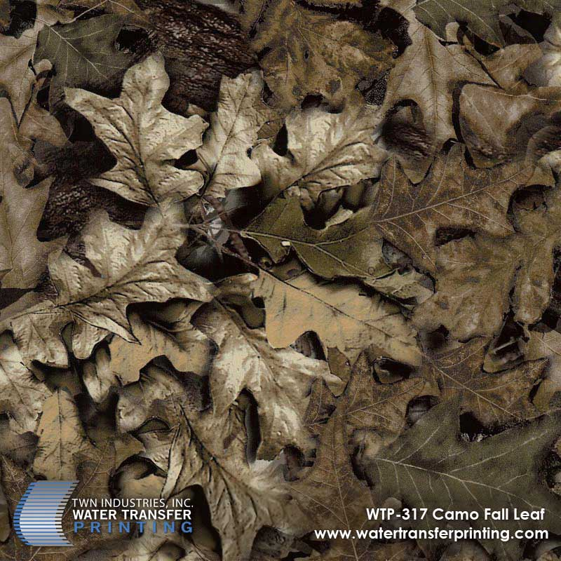 WTP-317 Fall Leaf Camo Hydrographic Film