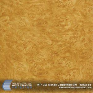 WTP-326 Blonde Carpathian Elm Burlwood Hydrographic Film