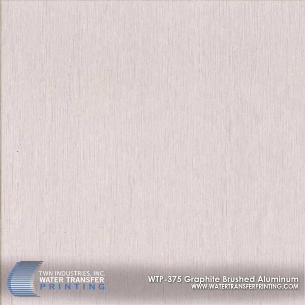 WTP-375 Graphite Brushed Aluminum Hydrographic Film