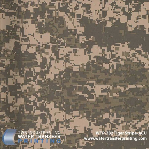 WTP-382 Tiger Stripe ACU Hydrographic Film