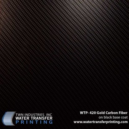 WTP-420 Gold Carbon Fiber Hydrographic Film