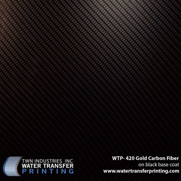 WTP-420 Gold Carbon Fiber Hydrographic Film
