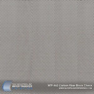 WTP-462 Carbon Fiber Black Check Hydrographic Film