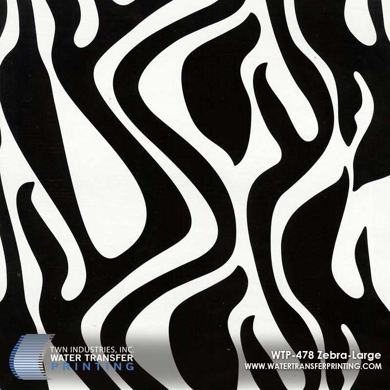WTP-478 Zebra-Large Hydrographic Film