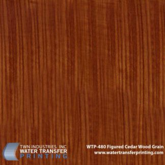 WTP-480 Figured Cedar Hydrographic Film