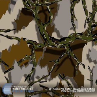 WTP-494 Predator Brown Deception Hydrographic Film