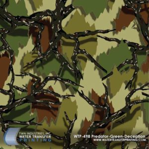 WTP-498 Predator Camo Green Deception Hydrographic Film