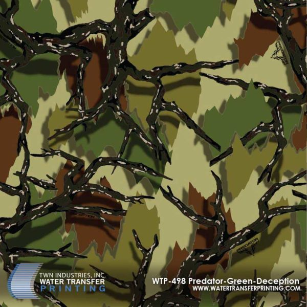 WTP-498 Predator Camo Green Deception Hydrographic Film