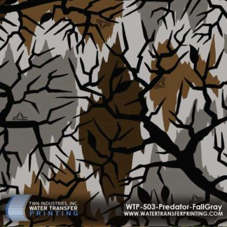 WTP-503 Predator Camo Fall Gray Hydrographic Film