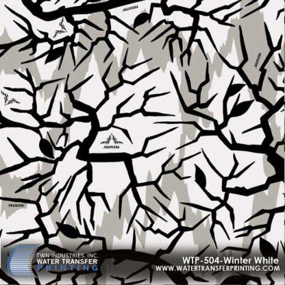 WTP-504 Predator Camo Winter White Hydrographic Film