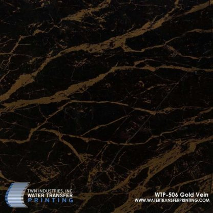 WTP-506 Gold Vein Marble Hydrographic Film