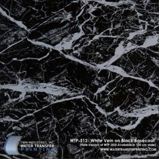 WTP-512 White Marble Vein Hydrographic Film