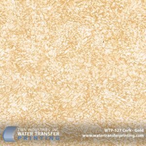 WTP-527 Cork Gold Hydrographic Film