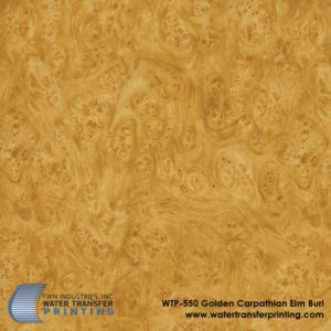 WTP-550 Golden Carpathian Elm Burl Hydrographic Film