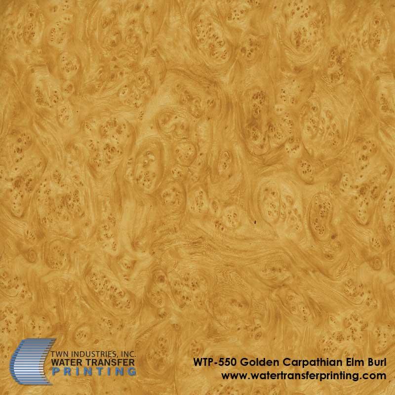 Gold Burl Wood hydrographic film