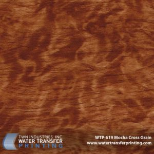 WTP-619 Mocha Cross Grain Hydrographic Film