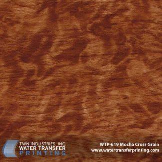 WTP-619 Mocha Cross Grain Hydrographic Film