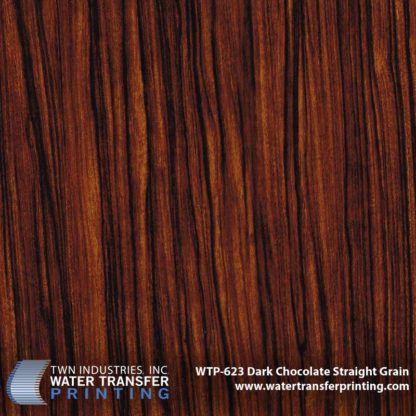 WTP-623 Dark Chocolate Straight Grain Hydrographic Film