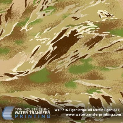 WTP-716 Tiger Stripe-All Terrain Tiger Hydrographic Film