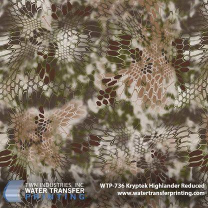 WTP-736 Kryptek Highlander Reduced Hydrographic Film