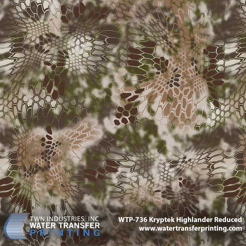 Kryptek Highlander Reduced Hydrographic Film Wtp 736