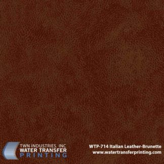 WTP-714 Italian Leather Brunette Hydrographic Film