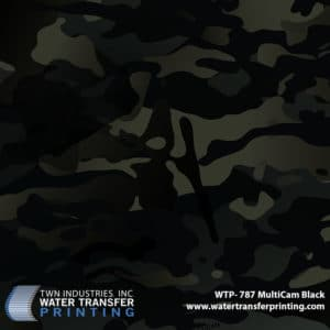 WTP-787 MultiCam Black Hydrographic Film