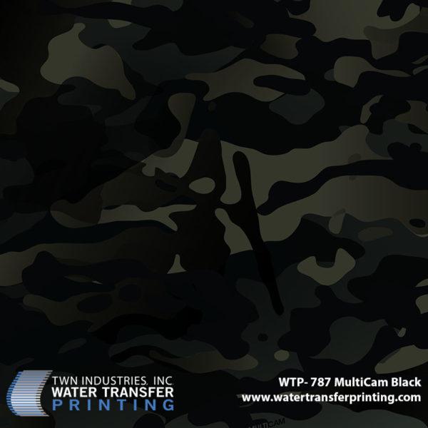 WTP-787 MultiCam Black Hydrographic Film