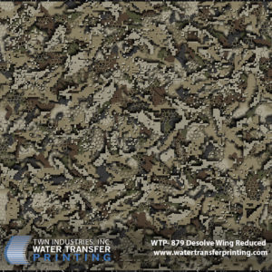 Desolve Camouflage Wing Hydrographics Film