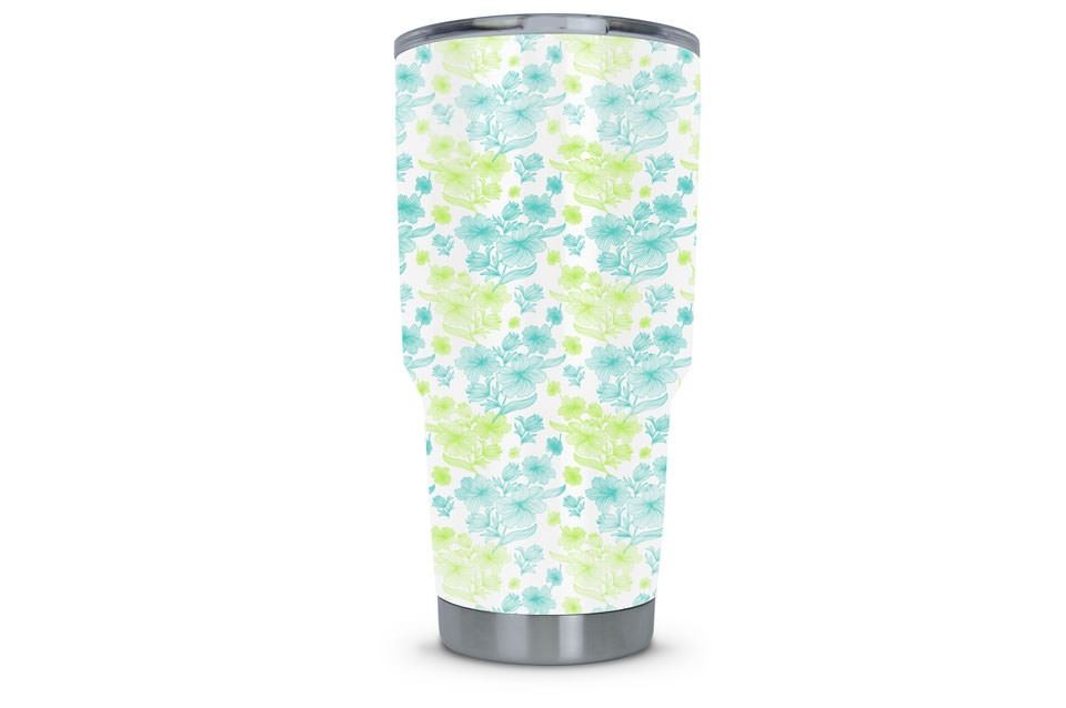 Women's Tumbler Dipped in Flower Hydrographic Film