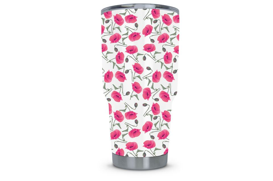 Women's Tumbler Dipped in Rose Hydrographic Film