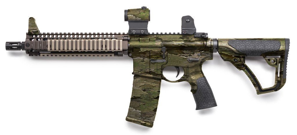 Rifle Dipped in WTP-854 A-TACS iX Hydrographic Film