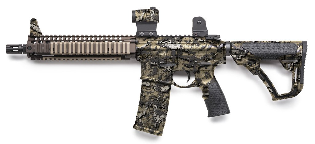 Rifle Dipped in WTP-878 Desolve Bare Hydrographic Film