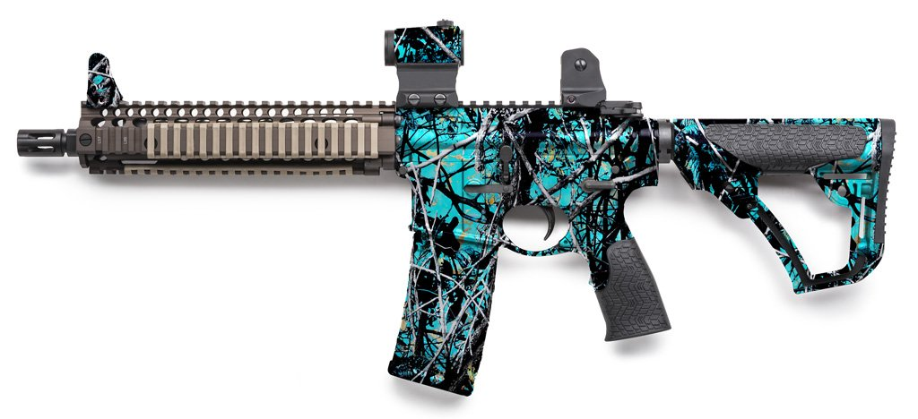 Rifle Dipped in WTP-898 Muddy Girl Serenity Hydrographic Film