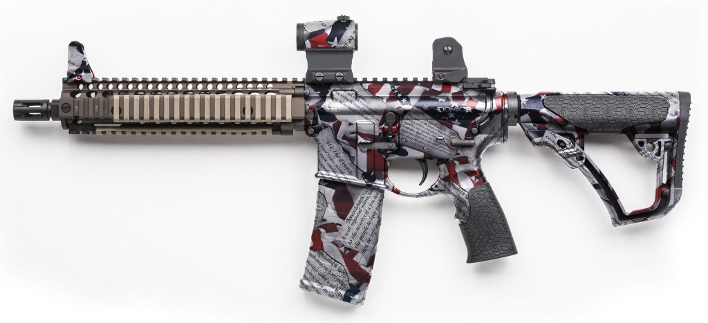 Rifle Dipped in WTP-882 Amendments American Flag Hydrographic Film