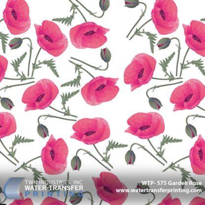 WTP-575 Garden Rose Hydrographic Film