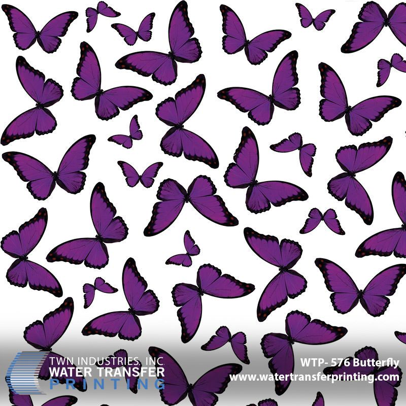 Hydro Dipping ROLLED Hydrographics Film 50cm Butterflies