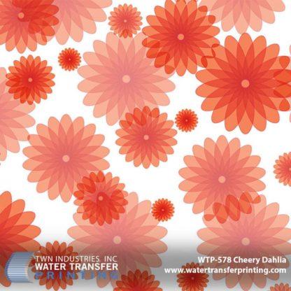 WTP-578 Cheery Dahlia Hydrographic Film
