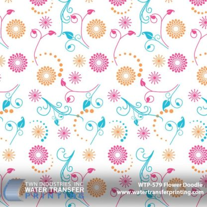 WTP-579 Flower Doodle Hydrographic Film
