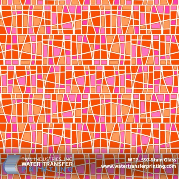 WTP-597 Stain Glass Hydrographic Film