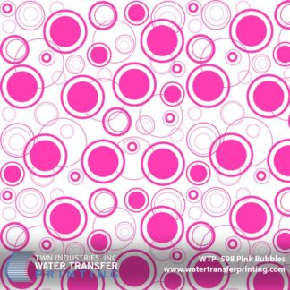 WTP-598 Pink Bubbles Hydrographic Film