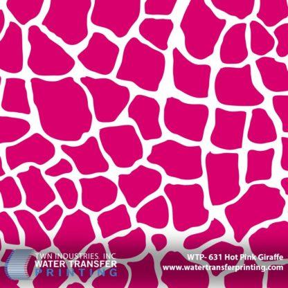 WTP-631 Hot Pink Giraffe Hydrographic Film