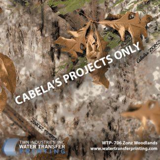 WTP-706 Cabela's Zonz Woodland Hydrographic Film