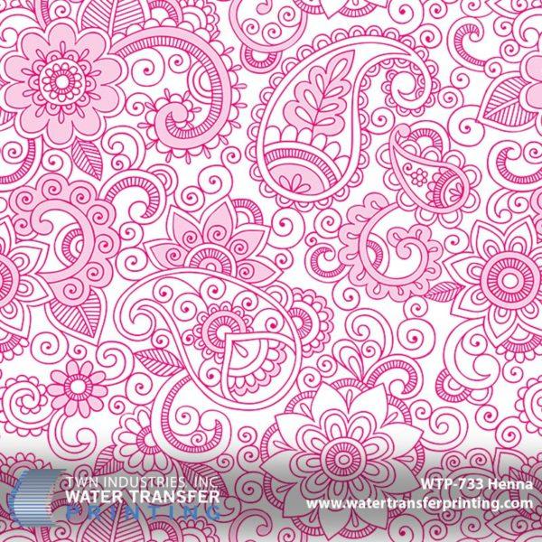 WTP-733 Henna Hydrographic Film