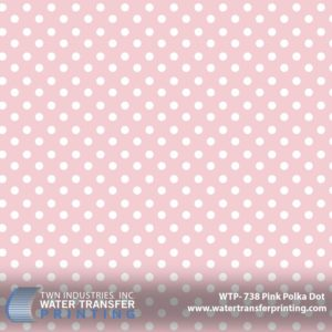 WTP-738 Pink Polka Dot Hydrographic Film