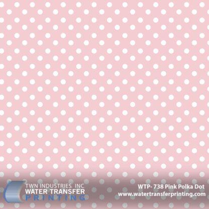 WTP-738 Pink Polka Dot Hydrographic Film