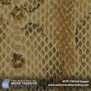 WTP-778 Snakeskin Illusion-Fall Copper Hydrographic Film
